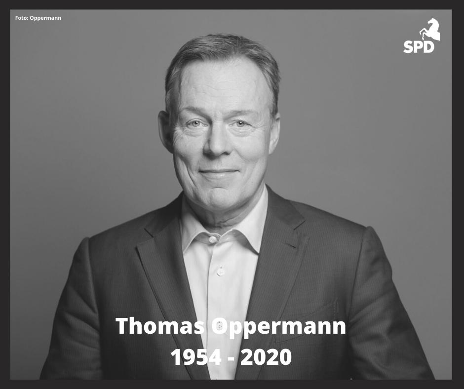 Wir trauern um Thomas Oppermann